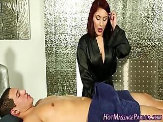 Spermy Mouth Hot Masseuse