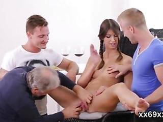 Guy Assists With Sexy Physical And Poking Of Virgin Girl