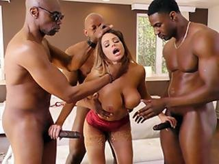 Brooklyn Chase Interracial Gangbang