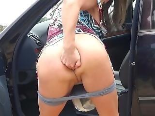 Brunette Cindy Pissing And Masturbation In Public