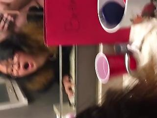 Asian College Slut Fucked In The Bathroom Mirror