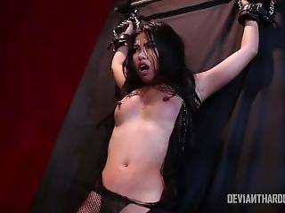 Asian Submissive Obeys Her Master
