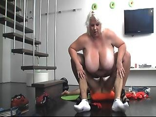 Blonde Bbw Milf Fucked By Young Guy