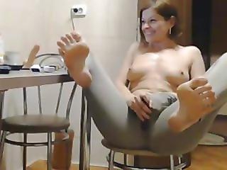 Amatõr, Ház, Háziasszony, Milf, Tini, Lábujjak, Webcam, Feleség