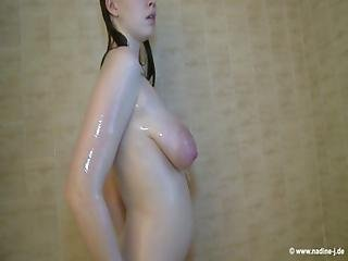 Emma Sinclaire S Milking Her Saggy And Juicy Tits In The Shower..