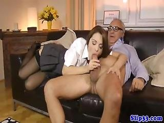 Euro Schoolgirl Sixtynines Oldman After Bj