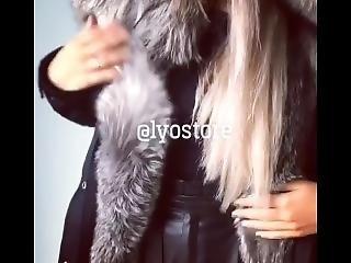 Girl Rubbing Her Fur #2