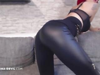 Leder Legging Teen Striptease