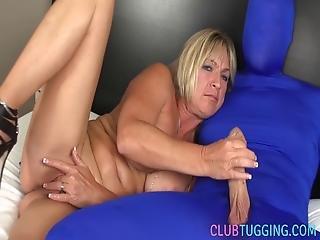 Busty Mature Jerking Her Subject