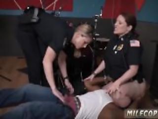 blondynka, obciąganie, policjant, międzyrasowy, milf, oral, seks, ogolona