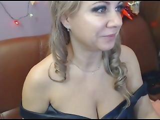 Mature Blond Wife Plays Tits And Masturbate