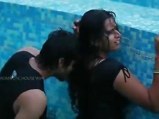 Surekha At Swimming Pool