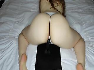 Theredheadedrabbit   Riding My Dildo In A G String.