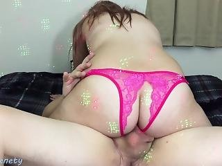 18 Y/o Girl Rides His Dick And Wont Let Him Pull Out Creampie In Her Pussy