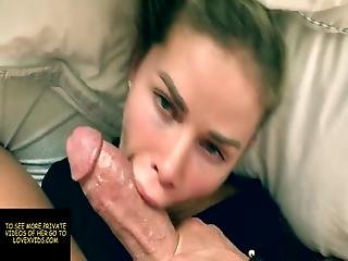 Blonde Stepmom Sucks My Dick And Gets Her Mouth Creampied