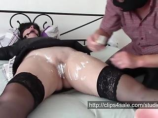 Shaving Time Bondage Shaving Pussy Licking And Painful Orgasm