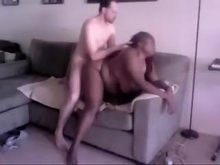Mature Black Bbw Hungry For White Cock