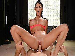 Peta Jensen Riding Levi Cash On Top Bouncing Off