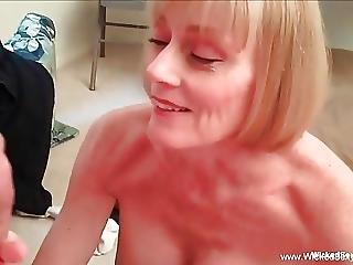 Mom Makes Son Cock Jump Around
