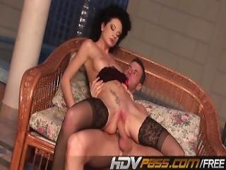 Curly Hair Babe Fucks In Hot Stocking Mp4
