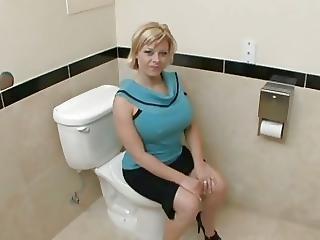 Bathroom, Big Boob, Big Tit, Blowjob, Boob, Doggystyle