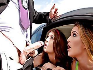 Teen Hotties Jojo Kis Sand Mila Marx Boned Outdoors By A Cop