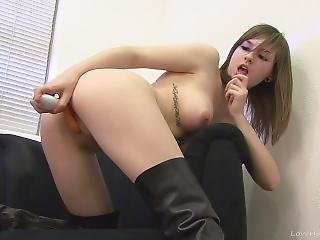 Pussy Stretching Solo Action With A Horny Slut