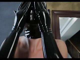 brud, brittisk, cosplay, fetish, latex, mask