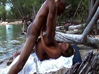 Esperanza Gomez Fucks Outdoors With A Black Guy