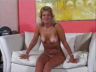 Mature Milf With Tan Lines Eats Cum