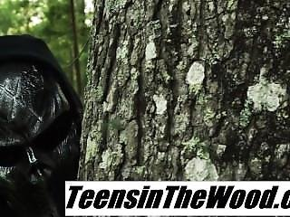 Teen Tied-up In The Forest And Fucked