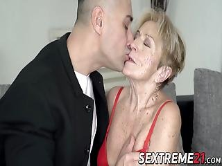 Lusty Grandma Fucked In Pussy By Hung Younger Guy