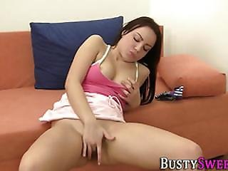 Horny Busty Teen Rubs Box