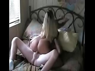 Sexy Blonde With Huge Tits Gets Her Delicious Pussy Creampied