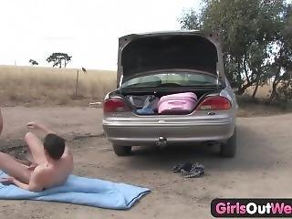 Girlsoutwest Aussie Couple Fucking Outdoors