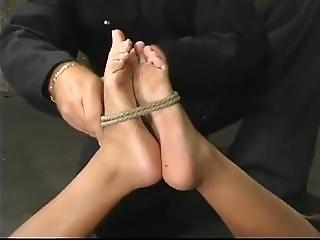 esclavitud, cum, hogtied, interracial, latina, atada