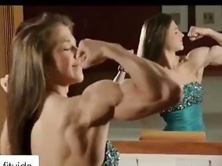 Teen Muscle Girl Emily Brand Biceps Workout And Flexing
