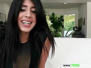 Petite Latina Teen Spreads Legs For A Bigcock