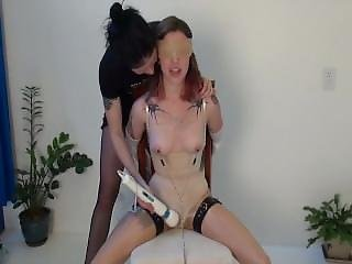 Nipple Clamps And Lesbian Bondage