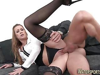 Stockings Slut Bang Pee