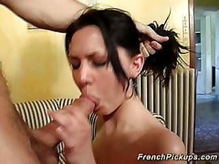French Babe Picked Up For Big Cock Anal
