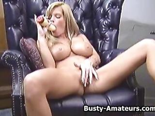 Busty Amateur Tera Playing Her Pussy With Favorite Toy