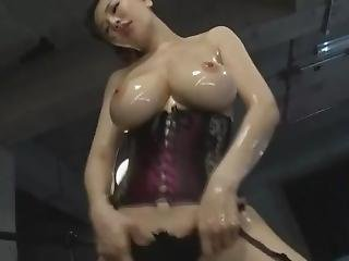 Asian Big Tits In Corset