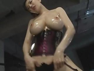 Asian Big Tits In Corset