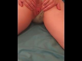 Bubble Butt Teen Humps Her Hands To Make Herself Cum Close-up