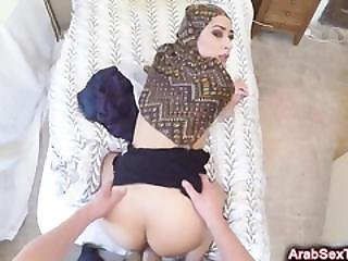 Sex Tourist Invades Tight Arab Pussy In Doggy Style Position