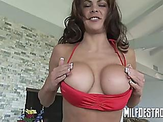 Skinny Milf With Big Tits Blowjob
