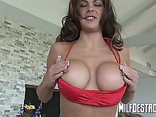 Skinny Milf With Big Tits Blowjob