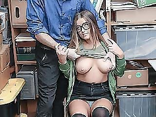 Hot And Busty Thief Dakota Rain Gave Her Pussy