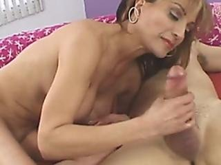 Busty And Horny Grandma Gets To Give Nice Oral